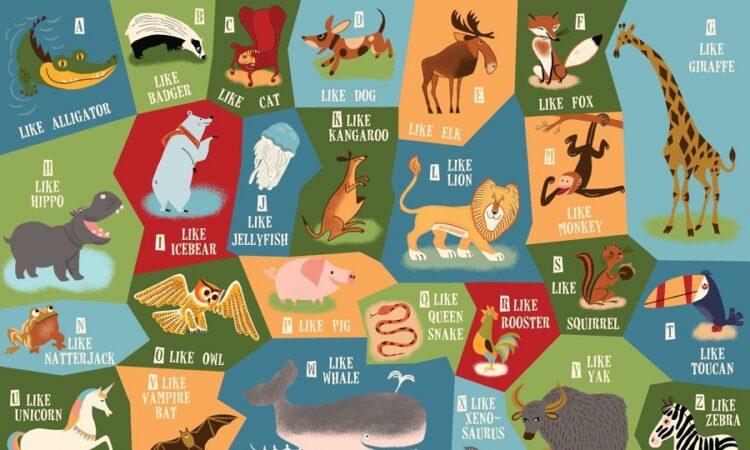 funny animals alphabet poster printable free
